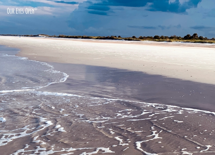 Little Talbot Island State Park, Florida Beach before a thurnderstom with the tide going out.