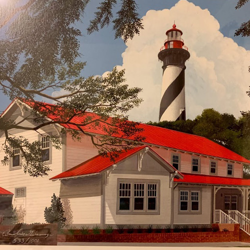 Framed print of St. Augustine Lighthouse, Florida