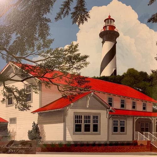 Framed print of St. Augustine Lighthouse, Florida
