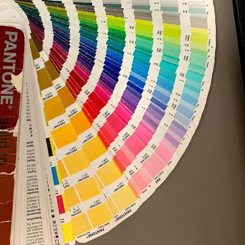 Pantone color swatch book