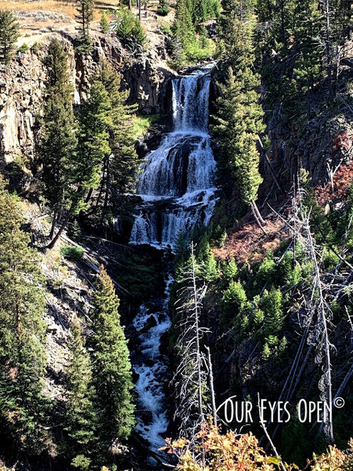 Undine Falls in Yellowstone National Park, Wyoming.