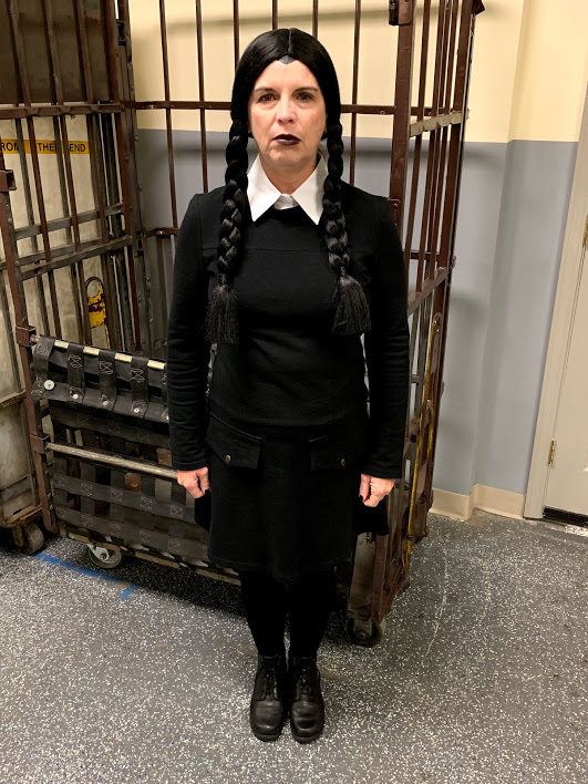 Wednesday Addams in her 50's.