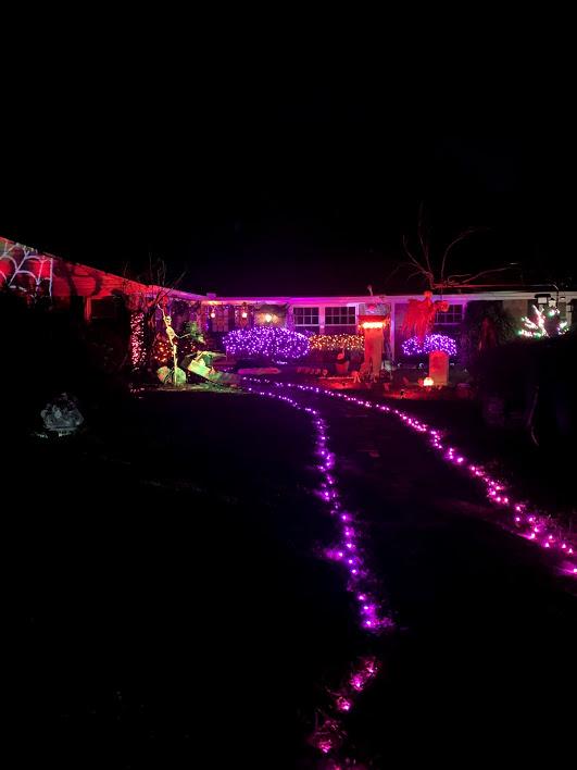 Lighted Halloween display - 2019