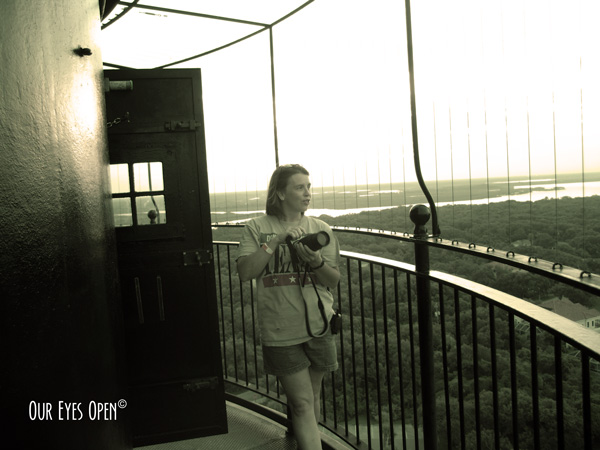 At the top of the St. Augustine Lighthouse, St. Augustine, FL
