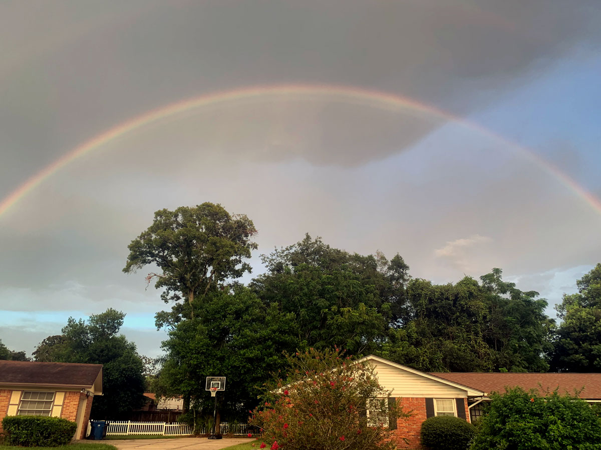 Rainbow over our house in Jacksonville, Florida