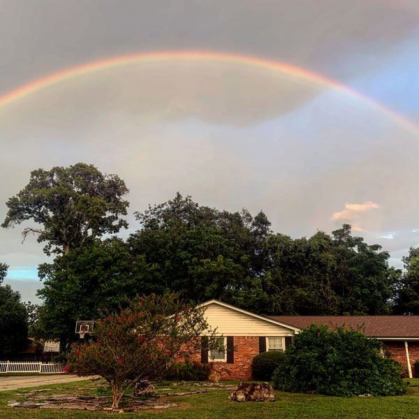 Full rainbow over out house.