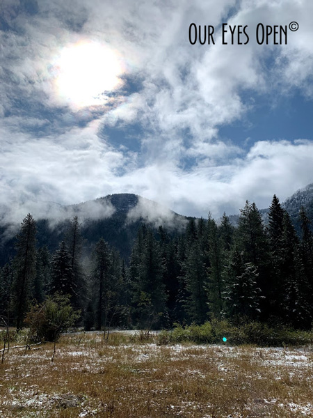 Watching the clouds move quickly over the mountains near Grand Targhee Ski Resort.