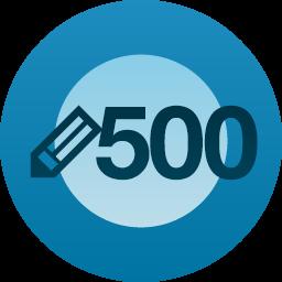 500 post milestone button