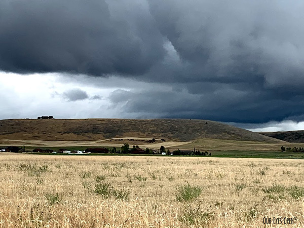 Storm clouds in Idaho.