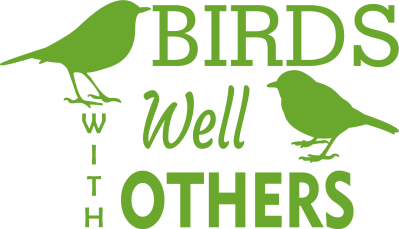 Birds Well with Others vinyl decal that can be placed on your car, window or so many other things.  It can be applied indoor or outdoors.