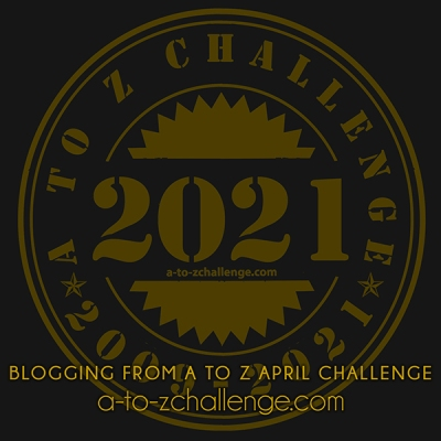 Blogging from A to Z April Challenge - 2021 badge